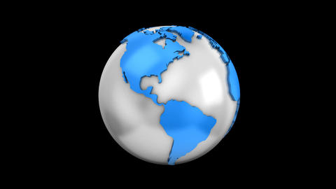 World Map Turns Into a Globe Image