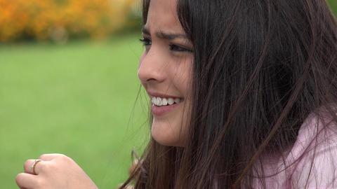 Sad Tearful Teen Girl Footage