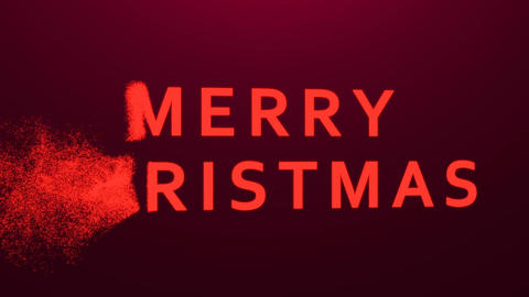Animation of the composition of the Merry Christmas of particles Live Action