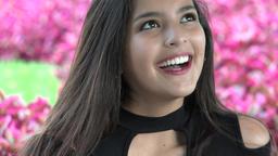 Happy Hispanic Female Teenager Footage