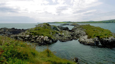 Coastline At The Altar Wedge Tomb, County Cork, Ireland - Graded Version Footage