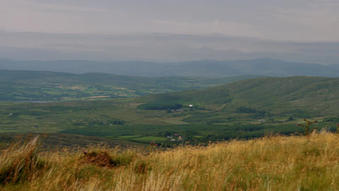 Kerry, Wide Landscape Pan, County Kerry, Ireland - Graded Version Footage
