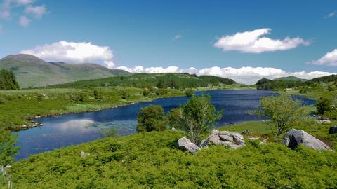Looscaunagh Lough, County Kerry, Ireland - Graded Version Footage