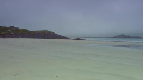 Totally Empty Beach At Glenalappa Middle, County Kerry, Ireland - Graded Version Footage
