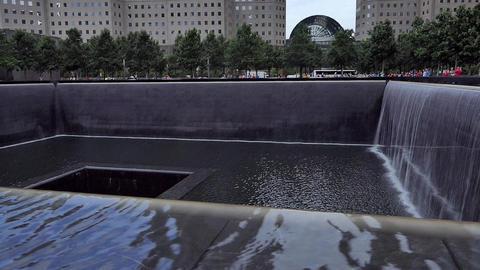 New York September 11, 2001 Memorial Waterfall - III Live Action