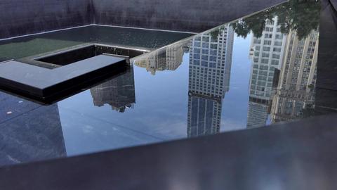 New York September 11, 2001 Memorial Waterfall - V Live Action