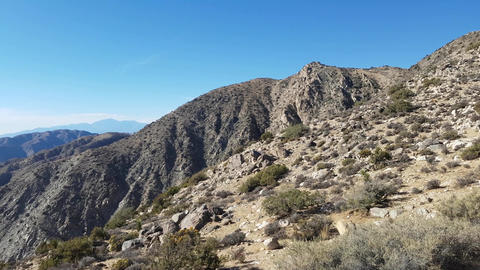 Keys view, Pan view of the keys view, in Joshua tree national park, on a sunny Footage