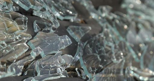 Braking Glass Texture Stock Video Footage