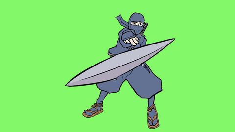 Ninja action 004 Animation