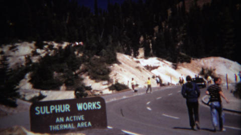 1971: Sulphur works active volcanic thermal area bubbling water Footage