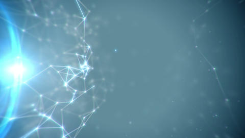 Abstract connecting lines and dots structure animation Stock Video Footage