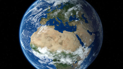Earth zoom in from outer space to street level. Zoom to Europe. 4K Animation