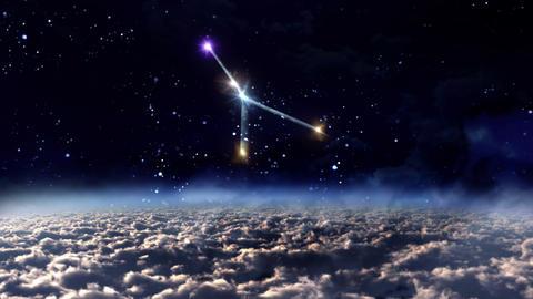 04 Cancer horoscopes of zodiac sign space Animation
