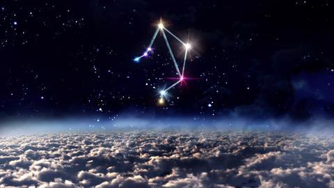 07 Libra horoscopes of zodiac sign space Animation