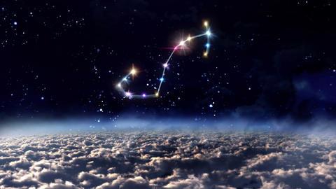 08 Scorpio horoscopes of zodiac sign space Animation