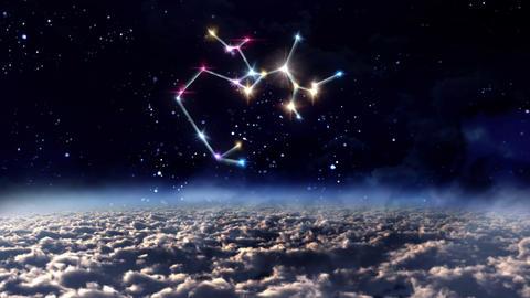 09 Sagittarius horoscopes of zodiac sign space Animation