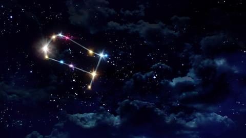 03 Gemini horoscopes of zodiac sign night Animation
