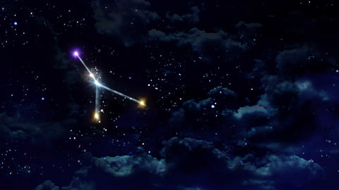 04 Cancer horoscopes of zodiac sign night Animation