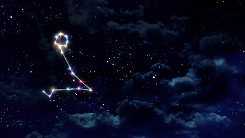 12 Pisces Horoscopes night Animation