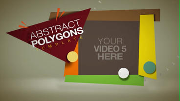 Abstract Polygons stock footage