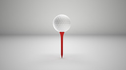 Golf Ball and Tee 3D Model