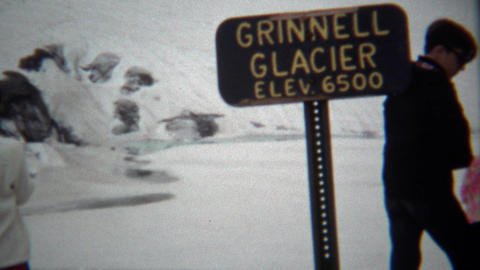 1967: Grinnell Glacier before global warming melted the ice Footage