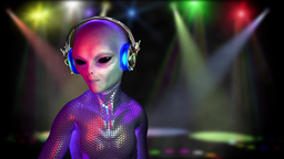 alien disco dancing Animation