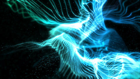 SHA Blue Line Veil Effects Animation