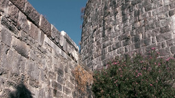 Turkey the Aegean Sea Bodrum 022 knight castle stone walls Footage