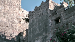 Turkey the Aegean Sea Bodrum 023 part of medieval castle Footage