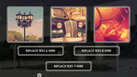 Rounded frames retro short promotional spot After Effects Template