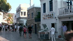 Turkey the Aegean Sea Bodrum 036 people in splendid pedestrian zone Footage