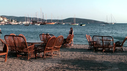 Turkey the Aegean Sea Bodrum 038 evening mood at the beach Footage