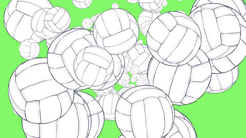 Coming volleyball Animation