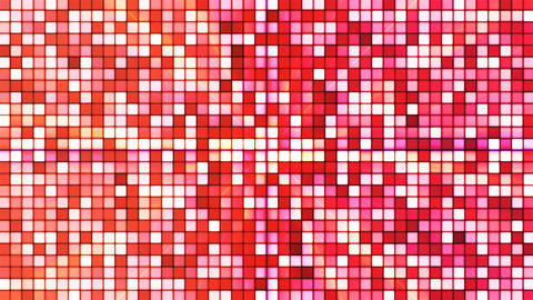 Broadcast Twinkling Hi-Tech Cubes, Red, Abstract, Loopable, 4K Animation