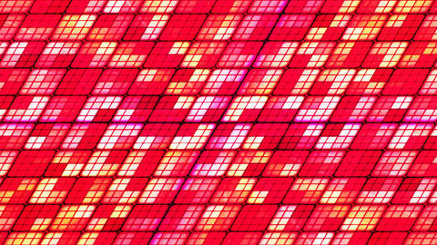 Broadcast Twinkling Slant Hi-Tech Cubes, Red, Abstract, Loopable, 4K Animation
