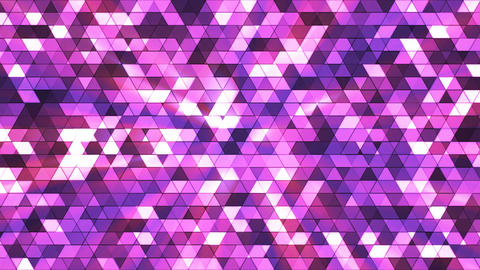Broadcast Twinkling Squared Hi-Tech Triangles, Pink, Abstract, Loopable, 4K Animation