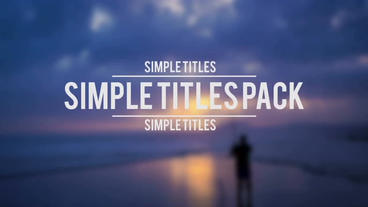 Simple Titles Pack Premiere Pro Template