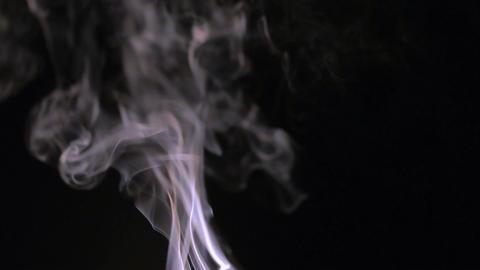 Smoke on a black background Footage