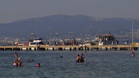 Thessaloniki waterbus sea cruises ship at Neoi Epivates, Greece Image
