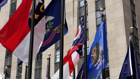 New York Rockefeller Plaza Flags 06 Image
