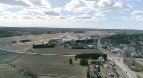 Kemio town, Aerial view of kemiö town, in Kemionsaari, Varsinais-suomi, Finland Footage