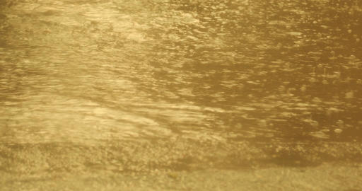 Rain drops in the water Footage