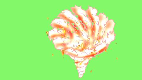 manga effect Fire tornado Animation