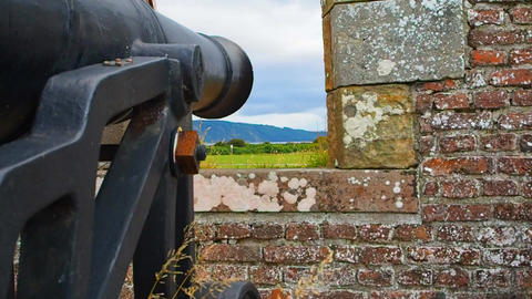 Fort George, Inverness, United Kingdom – 20 august 2017: Cannon placed on a Live Action