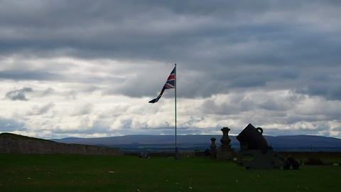 Fort George, Inverness, United Kingdom - 20 august 2017: Bombard and English Live Action
