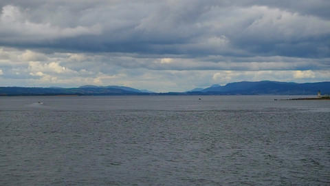 Fort George, Inverness, United Kingdom - 20 august 2017: Sea view towards the Live Action
