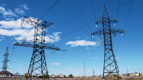 Electric support of power high-voltage wires. Power plant, production and Footage