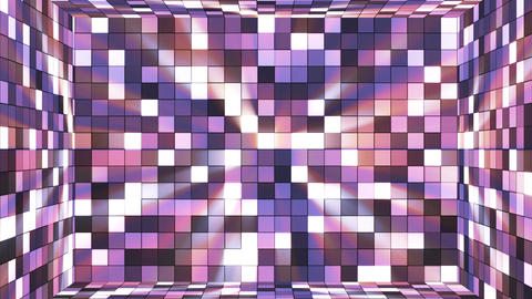 Broadcast Twinkling Hi-Tech Squares Room, Purple, Abstract, Loopable, 4K Animation