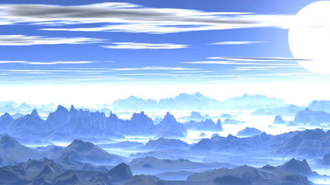 Sunset over the Misty Mountains Animation